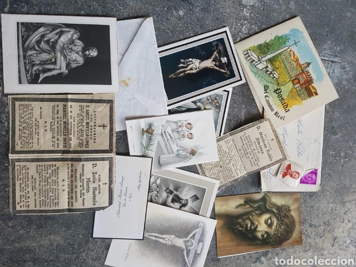 LOTE RECORDATORIOS, ESTAMPAS, ESQUELAS... MADRID 1970S (Postales - Postales Temáticas - Religiosas y Recordatorios)
