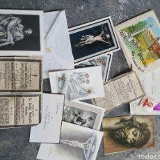 Postales: LOTE RECORDATORIOS, ESTAMPAS, ESQUELAS... MADRID 1970S. Lote 128280080