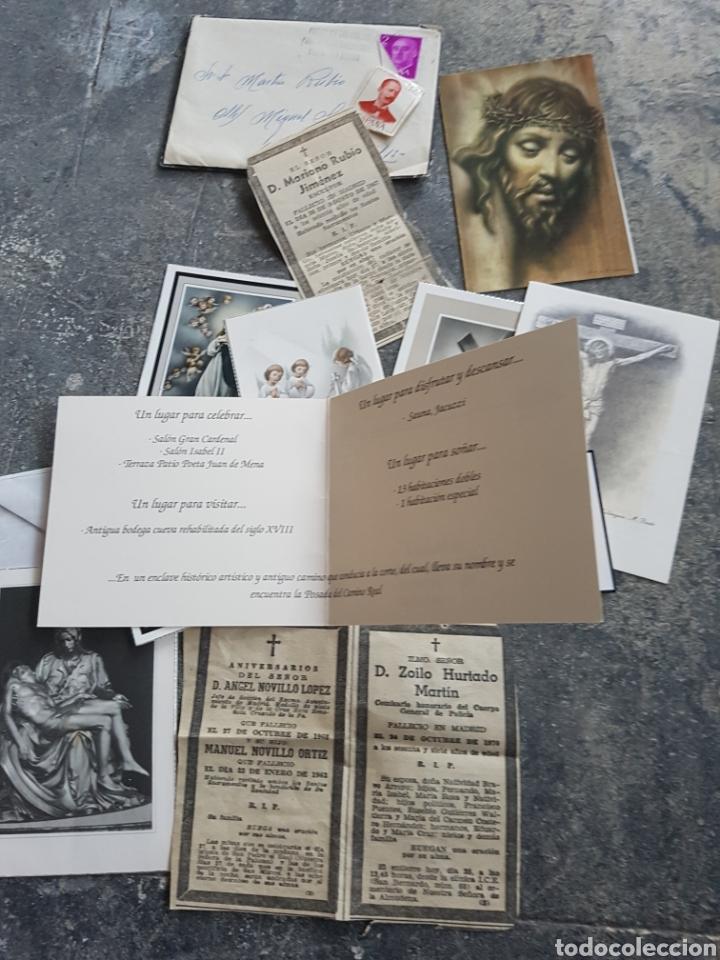 Postales: Lote recordatorios, estampas, esquelas... madrid 1970s - Foto 3 - 128280080