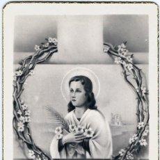 Postales: ESTAMPA SANTA MARIA GORETTI, MARTIR DE LA PUREZA - ED. MB MOLINA I BASSOLS - (5,5X9,8). Lote 129149467