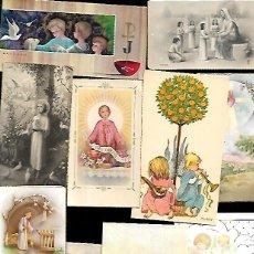 Postales: 10 RECORDATORIOS COMUNIÓN - LOTE Nº 29. Lote 129260187