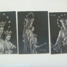 Postales: LOTE DE 3 ESTAMPAS DE MARIA AUXILIADORA. AÑOS 60 . FOTOS DE GARD. Lote 218151783