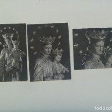 Postales: LOTE DE 3 ESTAMPAS DE MARIA AUXILIADORA. AÑOS 60 . FOTOS DE GARD. Lote 194348363