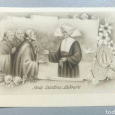 Postales: BONITA ESTAMPA RELIGIOSA ANTIGUA SANTA CATALINA LABOURE. Lote 129500490