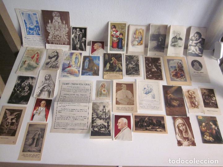 LOTE 35 ESTAMPAS RELIGIOSAS VARIOS ANTIGUAS SOLEMNES CULTOS VALENCIA LOURDES VICENTE FERRER (Postales - Postales Temáticas - Religiosas y Recordatorios)