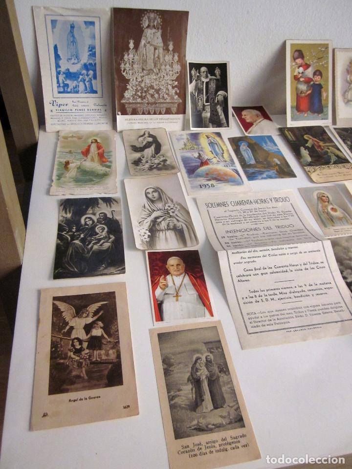 Postales: Lote 35 estampas religiosas varios antiguas Solemnes cultos Valencia Lourdes Vicente Ferrer - Foto 2 - 129953139