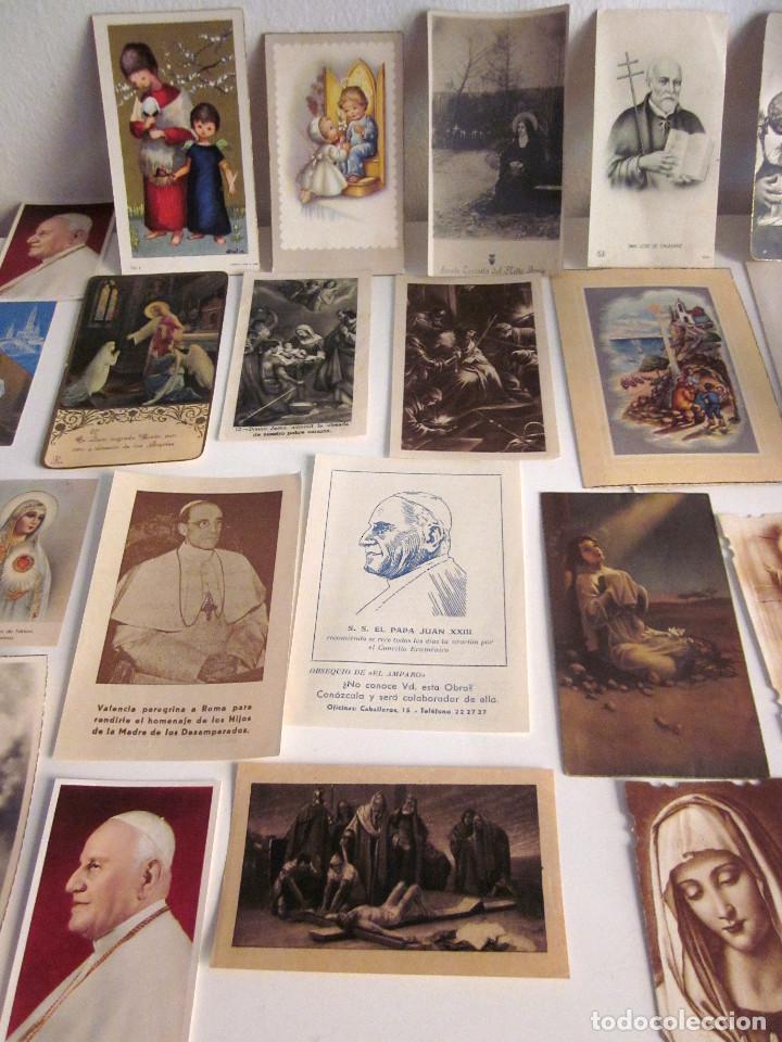Postales: Lote 35 estampas religiosas varios antiguas Solemnes cultos Valencia Lourdes Vicente Ferrer - Foto 4 - 129953139