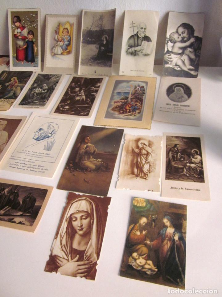 Postales: Lote 35 estampas religiosas varios antiguas Solemnes cultos Valencia Lourdes Vicente Ferrer - Foto 5 - 129953139