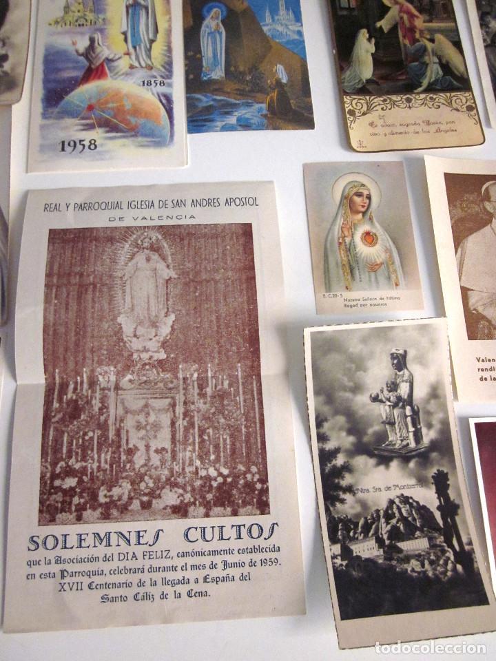 Postales: Lote 35 estampas religiosas varios antiguas Solemnes cultos Valencia Lourdes Vicente Ferrer - Foto 6 - 129953139