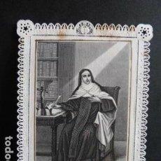 Postales: SANTA TERESA DE JESUS ESTAMPA CON ORACION. Lote 143548373