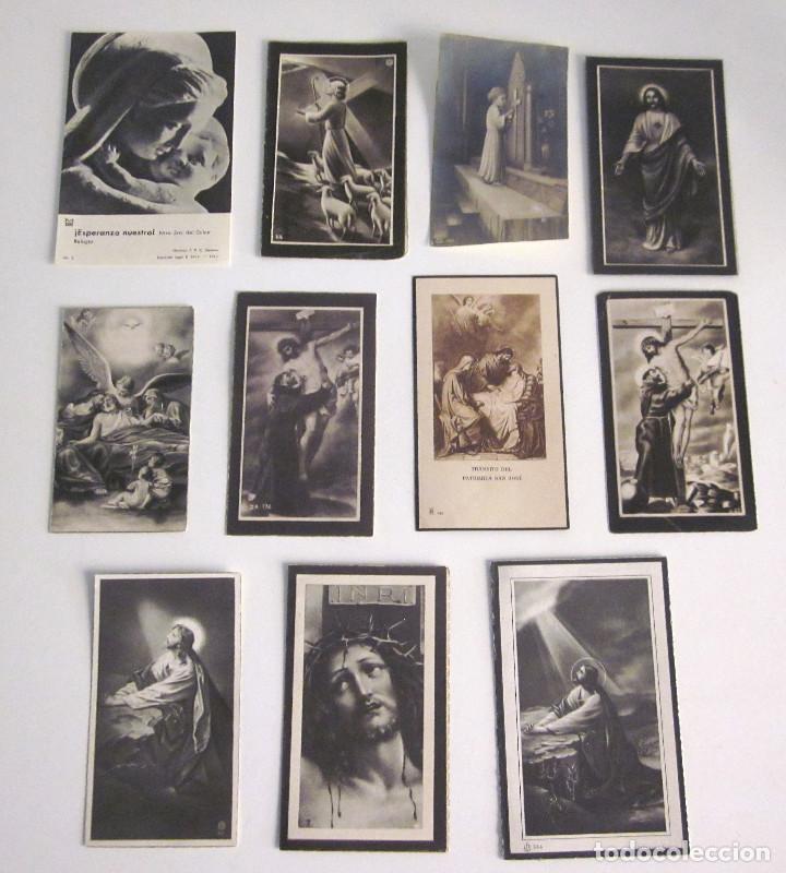 LOTE 11 RECORDATORIOS FUNERARIOS DEFUNCIÓN FALLECIMIENTO RELIGIOSOS ESQUELAS 1939 - 1961 (Postales - Postales Temáticas - Religiosas y Recordatorios)