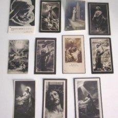 Postales: LOTE 11 RECORDATORIOS FUNERARIOS DEFUNCIÓN FALLECIMIENTO RELIGIOSOS ESQUELAS 1939 - 1961. Lote 129956251