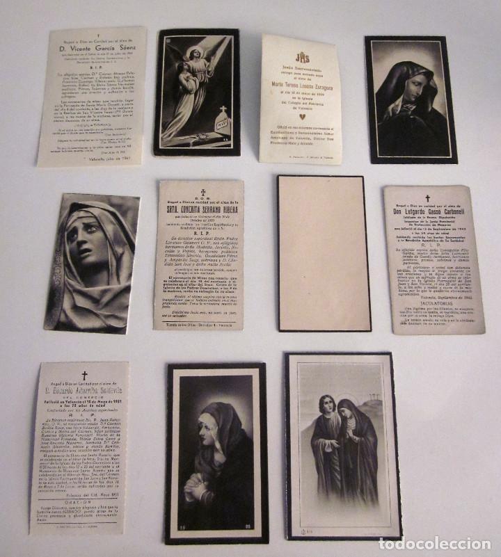 Postales: Lote 11 Recordatorios Funerarios Defunción Fallecimiento religiosos esquelas 1939 - 1961 - Foto 5 - 129956251