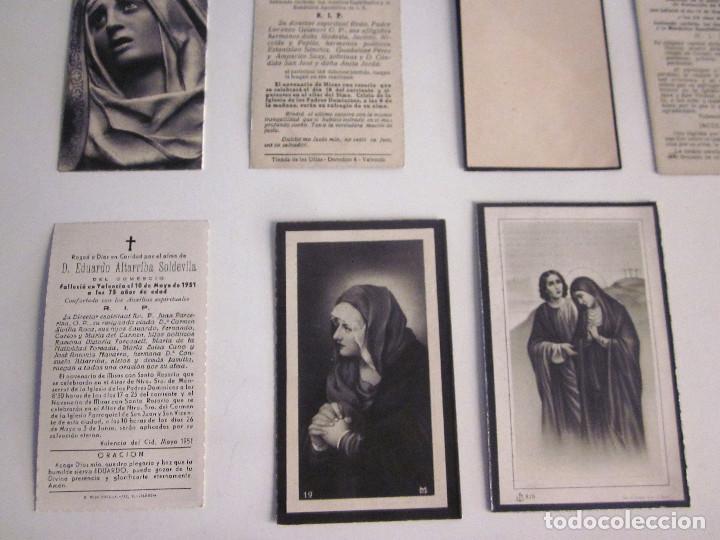 Postales: Lote 11 Recordatorios Funerarios Defunción Fallecimiento religiosos esquelas 1939 - 1961 - Foto 6 - 129956251