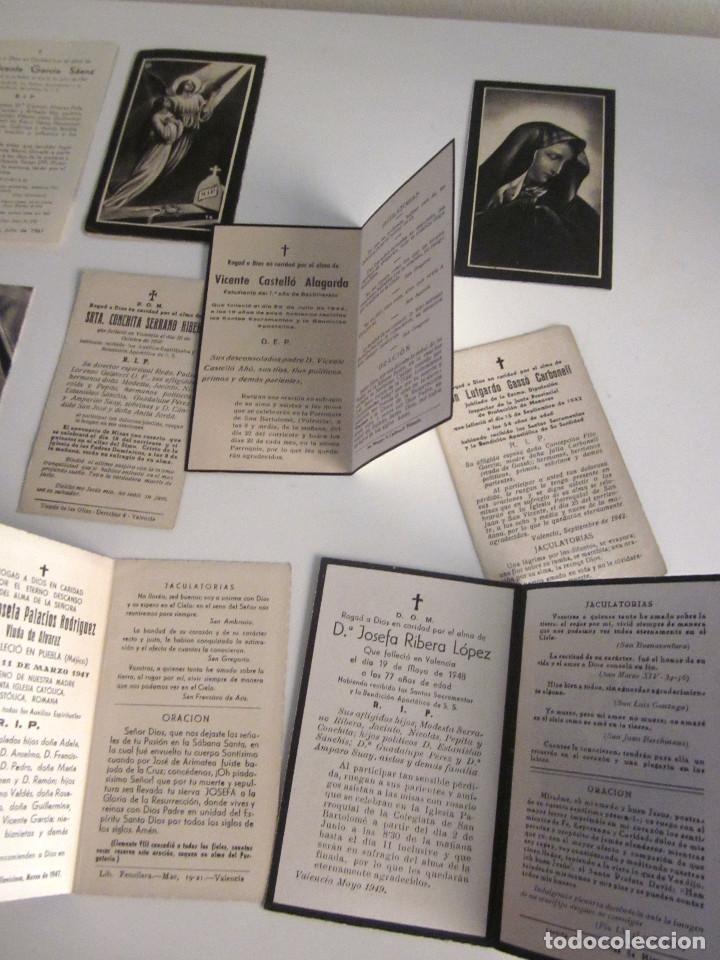 Postales: Lote 11 Recordatorios Funerarios Defunción Fallecimiento religiosos esquelas 1939 - 1961 - Foto 7 - 129956251