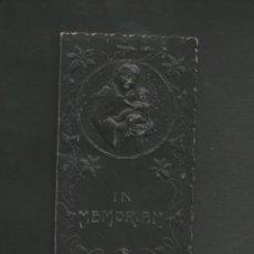 Postales: RECORDATORIO RELIGIOSO - MODERNISTA - IN MEMORIAN 1912 - HERMEDES DE CERRATO - PALENCIA. Lote 130885416