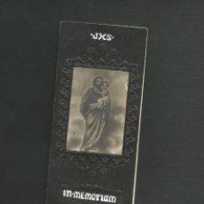 Postales: RECORDATORIO RELIGIOSO - IN MEMORIAN - MODERNISTA - HERMEDES DE CERRATO 1930 - PALENCIA. Lote 130886320
