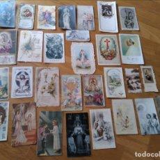 Postales: ESTAMPAS RELIGIOSAS ANTIGUAS RECORDATORIOS COMUNIÓN ETC.. Lote 131087436