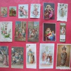Postales: ESTAMPAS RELIGIOSAS.-LOTE DE 16 ESTAMPAS RELIGIOSAS MUY ANTIGUAS.. Lote 131095940