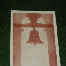 Postales: ESTAMPA BENDICION CAMPANA COLEGIO BIENAVENTURADA VIRGEN MARIA BARCELONA 1949. Lote 131144404