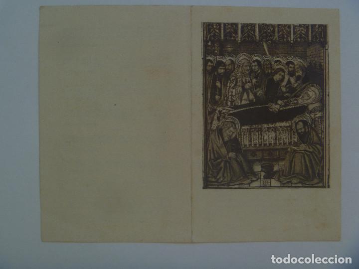 RECORDATORIO DE SEÑORA VIUDA FALLECIDA EN BARCELONA EN 1948 (Postales - Postales Temáticas - Religiosas y Recordatorios)