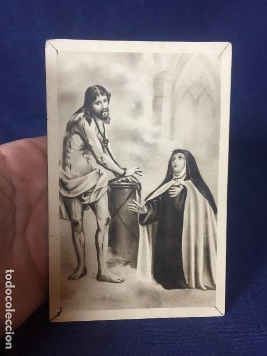 POSTAL AVILA SANTA TERESA DE JESUS Y CRISTO ATADO A LA COLUMNA RELIGIOSA (Postales - Postales Temáticas - Religiosas y Recordatorios)