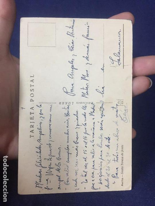 Postales: postal avila Santa teresa de Jesus y cristo atado a la columna religiosa - Foto 2 - 131487354