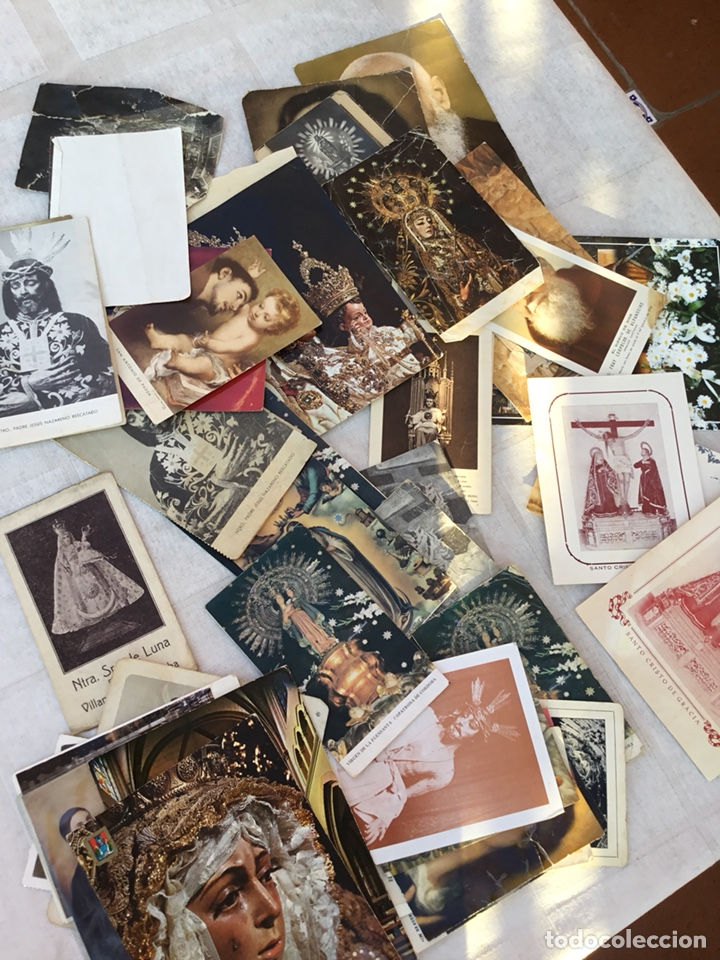 LOTE ESTAMPAS RELIGIOSAS, POSTALES, FALLECIMIENTOS .... (Postales - Postales Temáticas - Religiosas y Recordatorios)
