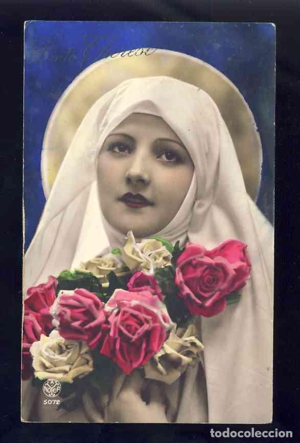 POSTAL RELIGIOSA: SANTA TERESA DEL NIÑO JESUS. FOTOGRAFICA COLOREADA (NOYER 5072) (Postales - Postales Temáticas - Religiosas y Recordatorios)