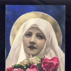Postales: POSTAL RELIGIOSA: SANTA TERESA DEL NIÑO JESUS. FOTOGRAFICA COLOREADA (NOYER 5072). Lote 132066098