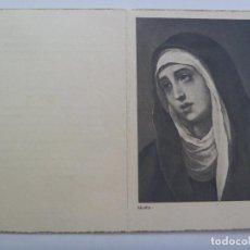 Postales: RECORDATORIO DE SEÑORA VIUDA FALLECIDA EN 1960. Lote 132214786