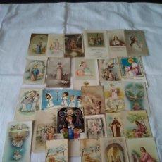 Postales: 74-LOTE 28 RECORDATORIOS PRIMERA COMUNION, TODOS AÑOS 40-50-60, ASTURIAS.. Lote 132428178