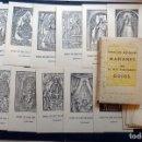 Postales: ANTIGUA CARPETA 31 ADVOCACIONS MARIANES AMB EL SEUS COIGS. ESTAMPAS DE VÍRGENES CATALANAS. Lote 132728206