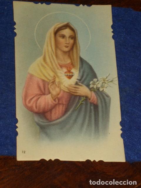 ESTAMPA RELIGIOSA TROQUELADA VIRGEN.AÑOS 20. (Postales - Postales Temáticas - Religiosas y Recordatorios)