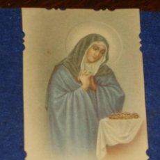 Postales: ESTAMPA RELIGIOSA TROQUELADA VIRGEN.AÑOS 20.. Lote 132803918