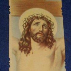 Postales: ESTAMPA RELIGIOSA TROQUELADA JESUS.AÑOS 20. Lote 132805070
