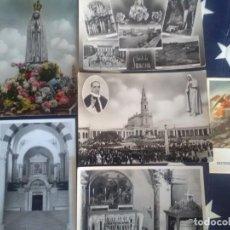Postales: LOTE DE POSTALES RELIGIOSAS .FÁTIMA Y DE TIERRA SANTA. Lote 132920054