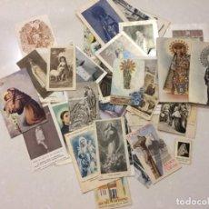 Postales: LOTE DE ESTAMPAS Y POSTALES RELIGIOSAS. Lote 133488558