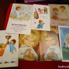 Postales: ESTAMPAS RECUERDO COMUNIÓN CONSTANZA. Lote 133843238