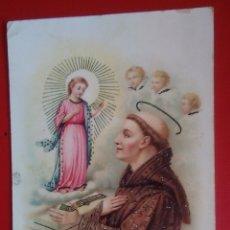 Postales: POSTAL RELIGIOSA ANTIGUA SAN ANTONIO DE PADUA AÑOS 40. Lote 134018686