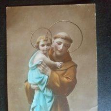 Postales: POSTAL RELIGIOSA ANTIGUA SAN ANTONIO DE PADUA. Lote 134052107