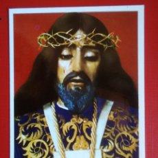 Postales: ESTAMPA RELIGIOSA ANTIGUA CRISTO DE MEDINACELI ORACION. Lote 134052858