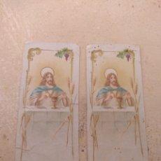 Postales: PAREJA ESTAMPAS RELIGIOSAS. Lote 134111141