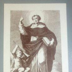 Postales: ESTAMPA RELIGIOSA ANTIGUA SAN VICENTE FERRER VALENCIA. Lote 156534557