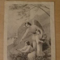 Postales: ES 41 ANTIGUA ESTAMPA ANGEL DE LA GUARDA - SU M 31 - 10CM X 5.50CM. Lote 134760554