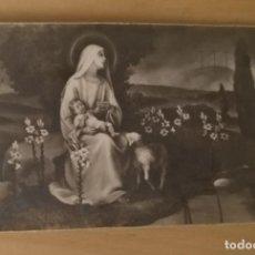 Postales: EV 23 ANTIGUA ESTAMPA VIRGEN CON EL NIÑO JESÚS - AR 1441 MADE IN ITALY - 6CM X 10CM. Lote 134799366