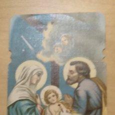 Postales: ES 46 ANTIGUA ESTAMPA RELIGIOSA TROQUELADA SAGRADA FAMILIA - RB 245 - 11CM X 6CM. Lote 134804142