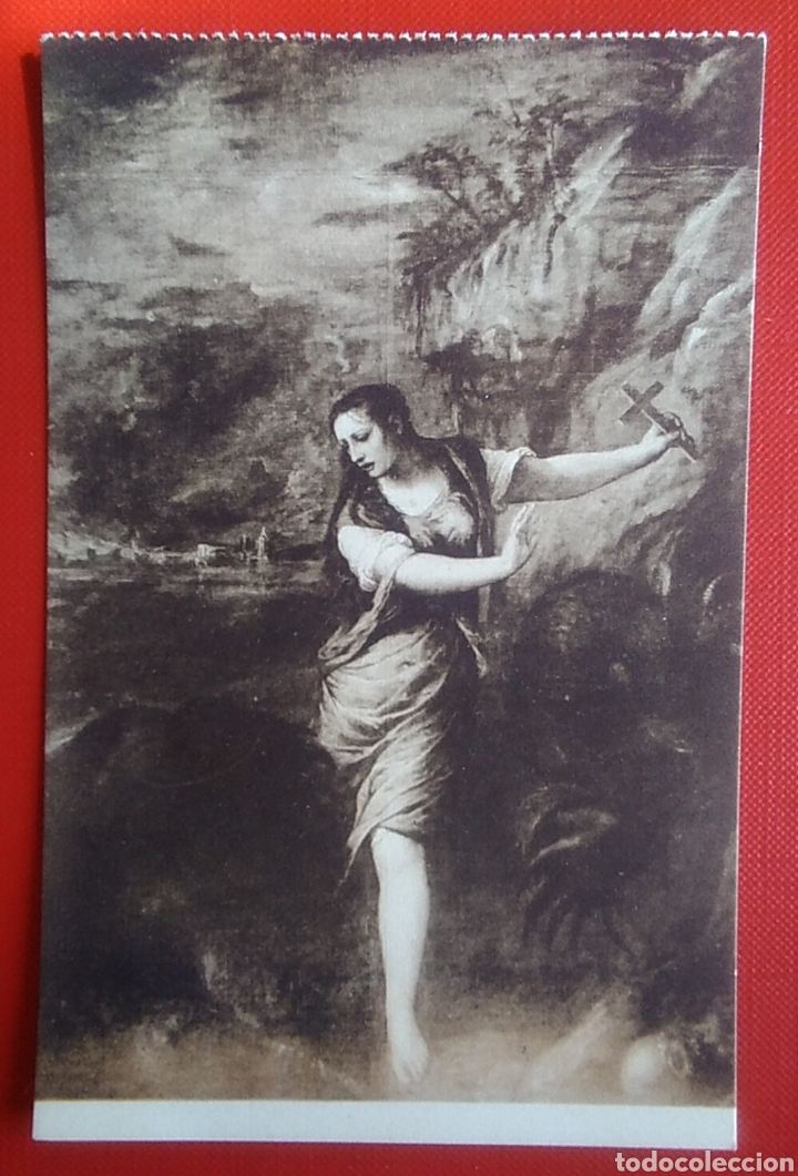 POSTAL RELIGIOSA ANTIGUA SANTA MARGARITA TIZIANO MUSEO DEL PRADO 445 (Postales - Postales Temáticas - Religiosas y Recordatorios)