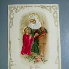 Postales: POSTAL RELIGIOSA ANTIGUA SANTA ANA Y LA VIRGEN AÑOS 20. Lote 135347475