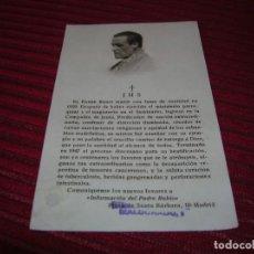 Postales: ESTAMPA CON RELIQUIA DEL PADRE RUBIO.. Lote 135392570